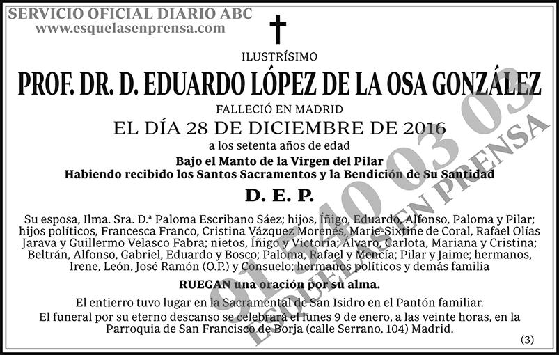 Eduardo López de la Osa González
